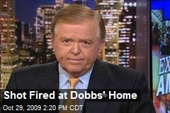 Shot Fired at Dobbs' Home