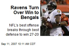 Ravens Turn Over Win to Bengals