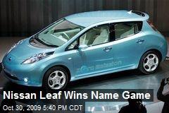 Nissan Leaf Wins Name Game