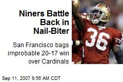 Niners Battle Back in Nail-Biter
