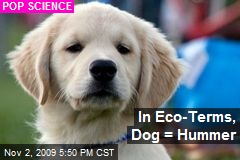 In Eco-Terms, Dog = Hummer
