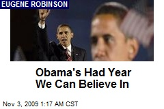Obama's Had Year We Can Believe In