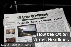 How the Onion Writes Headlines