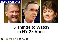 5 Things to Watch in NY-23 Race