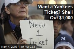 Want a Yankees Ticket? Shell Out $1,000