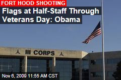 Flags at Half-Staff Through Veterans Day: Obama