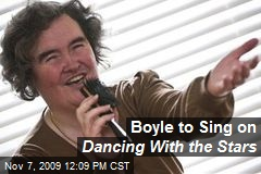 Boyle to Sing on Dancing With the Stars