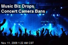 Music Biz Drops Concert Camera Bans