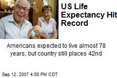 US Life Expectancy Hits Record