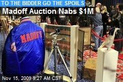 Madoff Auction Nabs $1M