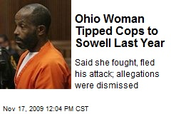 Ohio Woman Tipped Cops to Sowell Last Year