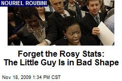 Forget the Rosy Stats: The Little Guy Is in Bad Shape