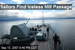 Sailors Find Iceless NW Passage