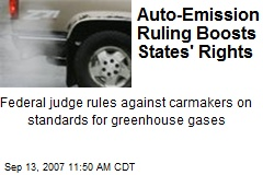 Auto-Emission Ruling Boosts States' Rights