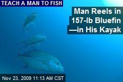 Man Reels in 157-lb Bluefin —in His Kayak