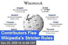 Contributors Flee Wikipedia's Stricter Rules