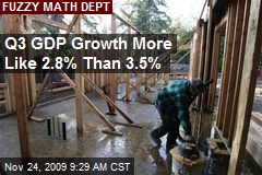 Q3 GDP Growth More Like 2.8% Than 3.5%