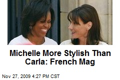 Michelle More Stylish Than Carla: French Mag