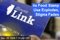 As Food Stamp Use Explodes, Stigma Fades
