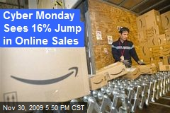 Cyber Monday Sees 16% Jump in Online Sales