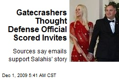 Gatecrashers Thought Defense Official Scored Invites