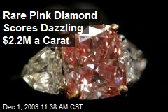 Rare Pink Diamond Scores Dazzling $2.2M a Carat