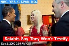 Salahis Say They Won't Testify