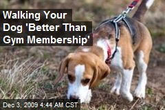Walking Your Dog 'Better Than Gym Membership'