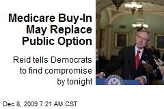 Medicare Buy-In May Replace Public Option
