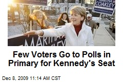 Few Voters Go to Polls in Primary for Kennedy's Seat