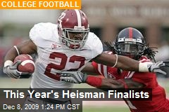 This Year's Heisman Finalists