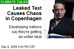 Leaked Text Causes Chaos in Copenhagen