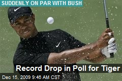 Record Drop in Poll for Tiger
