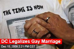DC Legalizes Gay Marriage