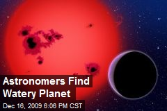 Astronomers Find Watery Planet