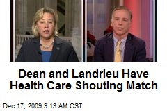 Dean and Landrieu Have Health Care Shouting Match