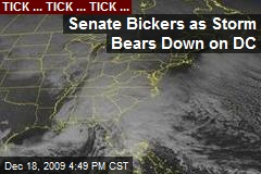 Senate Bickers as Storm Bears Down on DC