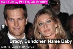 Brady, Bundchen Name Baby