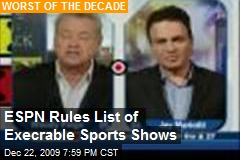 ESPN Rules List of Execrable Sports Shows
