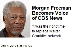 Morgan Freeman Becomes Voice of CBS News