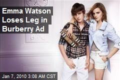 Emma Watson Loses Leg in Burberry Ad