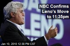 NBC Confirms Leno's Move to 11:35pm