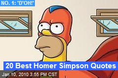 20 Best Homer Simpson Quotes
