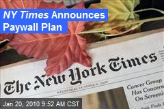 NY Times Announces Paywall Plan