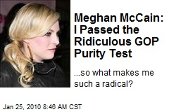 Meghan McCain: I Passed the Ridiculous GOP Purity Test