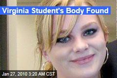 Virginia Student's Body Found