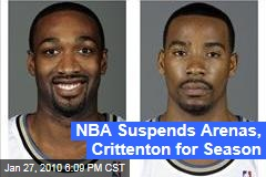 NBA Suspends Arenas, Crittenton for Season