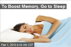 To Boost Memory, Go to Sleep