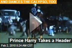 Video Alert: Prince Harry Falls Off Horse During Charity Polo Match, Dances Calypso to Raise Funds for Haiti
