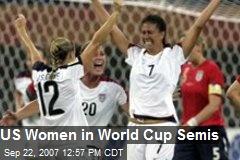 US Women in World Cup Semis